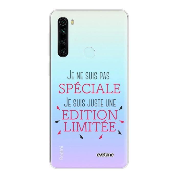 Coque Xiaomi Redmi Note 8 T 360 intégrale transparente Spéciale édition limitée Ecriture Tendance Design Evetane