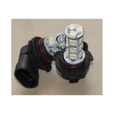 2 x Ampoules HB3 9005 LED SMD 18 LED