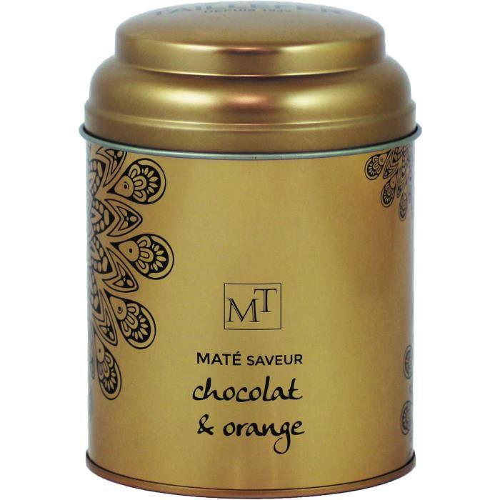 MAISON TAILLEFER Infusion Maté Chocolat Orange Boite Métal 100g Mt