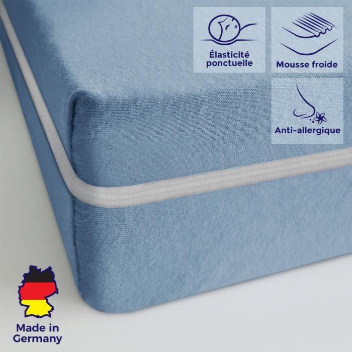 Matelas bébé 70x140cm matelas ferme confortable housse lavable pas cher anti-acarien matelas sommeil réparateur épaisseur 11 cm
