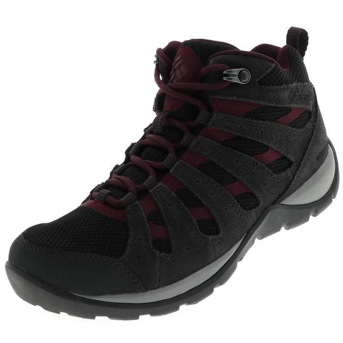Chaussures marche randonnées Redmond mid wp black l - Columbia