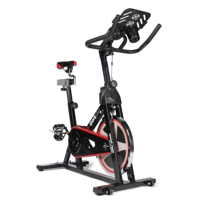 Speedracer/Speedbike - SportPlus, Support de Tablette - Compatible avec Ceinture pectorale Bluetooth - Roue d'inertie env. 13 kg