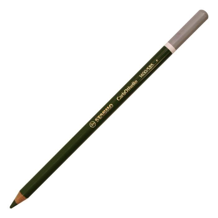 Lot de 12 Crayons de couleur Fusain Pastel CarbOthello Vert olive