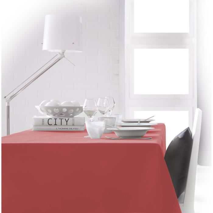 TODAY Nappe rectangulaire 150x250 cm - Orange corail