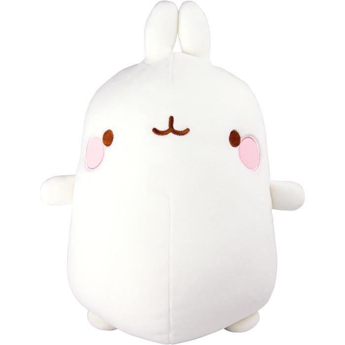 molang - peluche lapin super douce l66028, peluche molang, peluche géante à matière douce et moelleuse, doudou lapin blanc, peluche