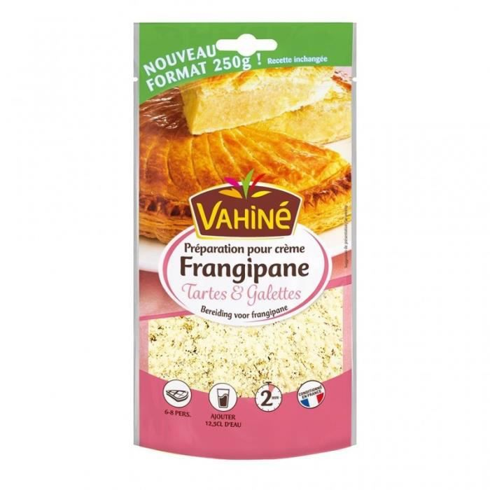 Vahiné Préparation pour Crème Frangipane Tartes & Galettes 250g (lot de 3)