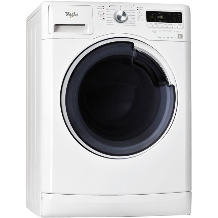 WHIRLPOOL AWŒ41048 - Lave-linge frontal - 10 kg - 1400 tours / min - A+++ - Moteur induction-Blanc