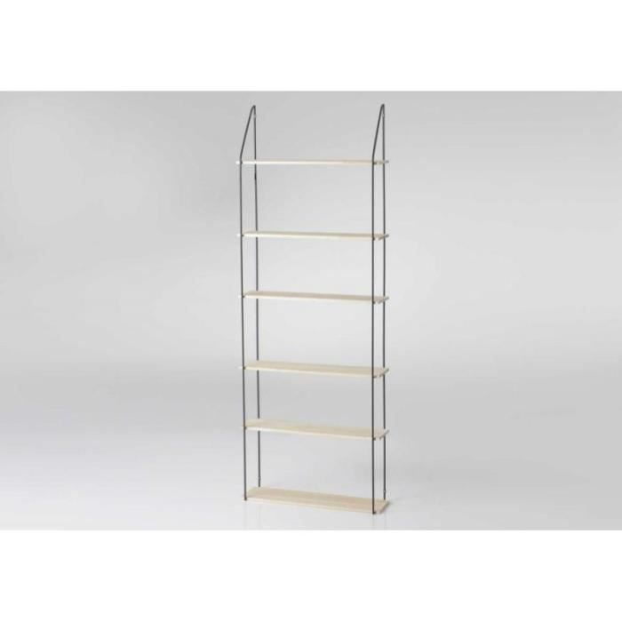 etagere murale bois et metal achat vente etagere. Black Bedroom Furniture Sets. Home Design Ideas