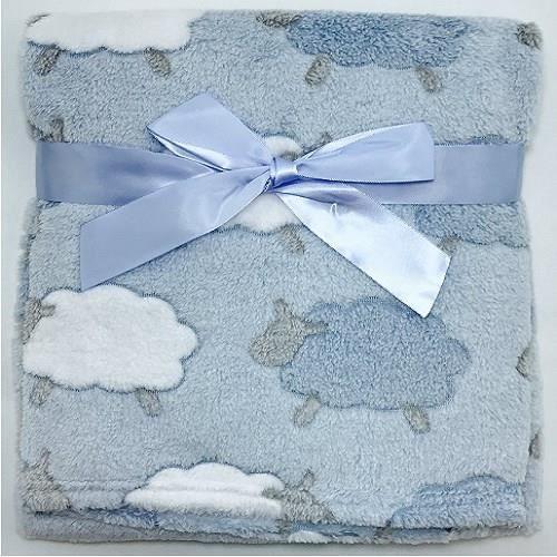 De haute qualité bébé couverture couverture couverture avec étoiles blanc//bleu 75x100cm