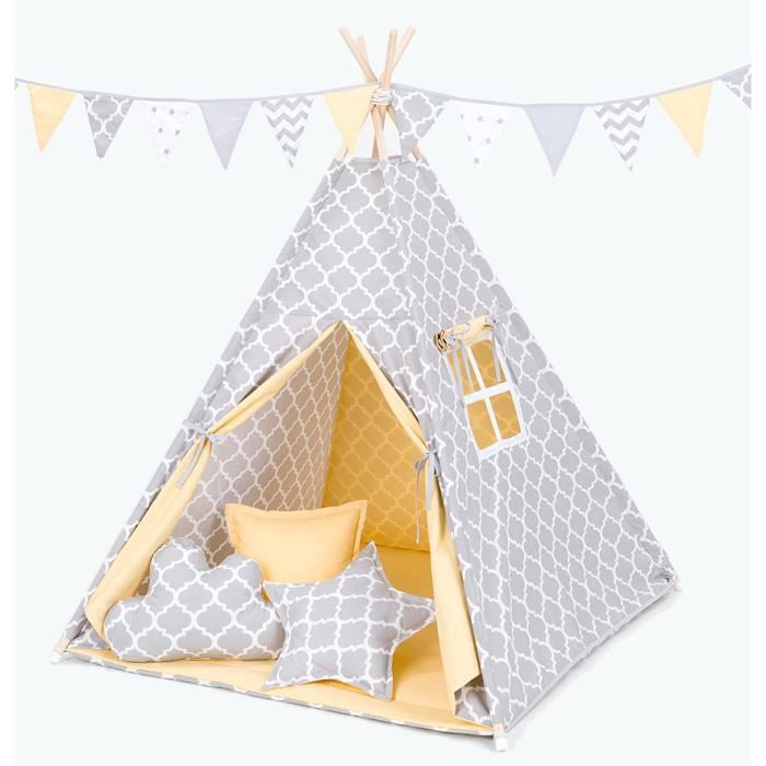 tipi enfant complet pour chambre de gar on ou fille. Black Bedroom Furniture Sets. Home Design Ideas