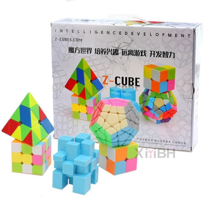 xiyibh lot de 5 pyraminx rubik cube megaminx puzzle cube rubik cube in gal 3x3 rubik cube 2x2. Black Bedroom Furniture Sets. Home Design Ideas