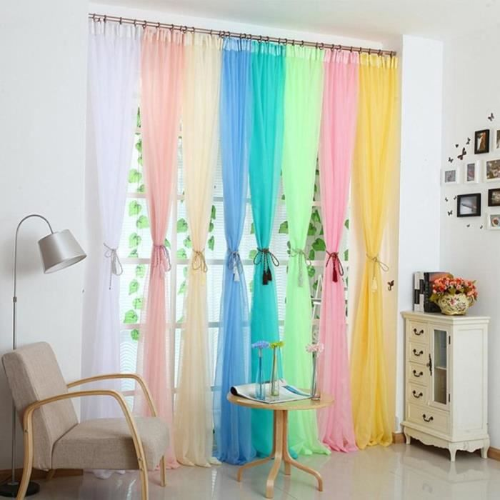 valences floral tulle voile porte fen tre rideau panneau drap divider vert achat vente. Black Bedroom Furniture Sets. Home Design Ideas