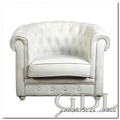Fauteuil baroque chesterfield blanc achat vente fauteuil blanc cdiscount - Fauteuil chesterfield blanc ...