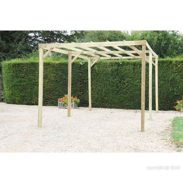 pergola 3x5 m trait e autoclave poteaux de 80 mm achat. Black Bedroom Furniture Sets. Home Design Ideas