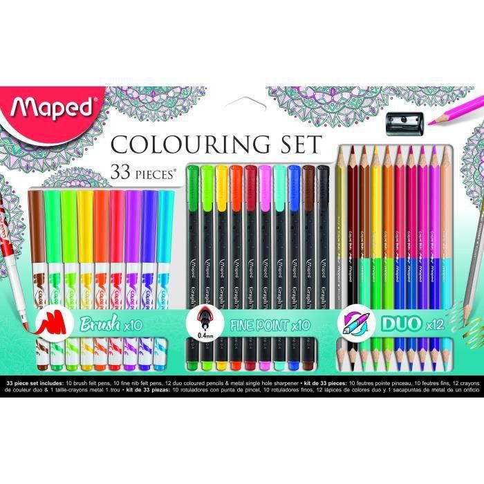 FEUTRES MAPED Coffret de 33 feutres de coloriage