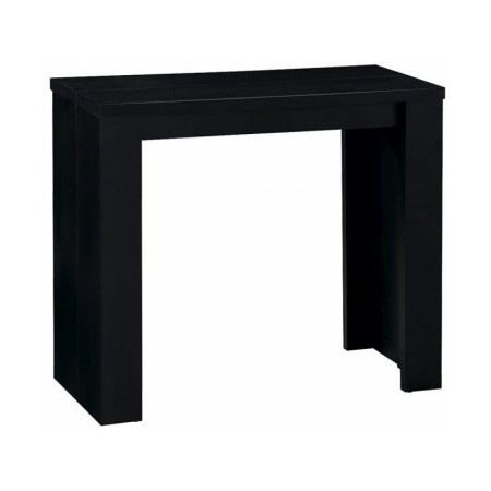 table console extensible stella 3 rallonges noir achat vente console table console. Black Bedroom Furniture Sets. Home Design Ideas