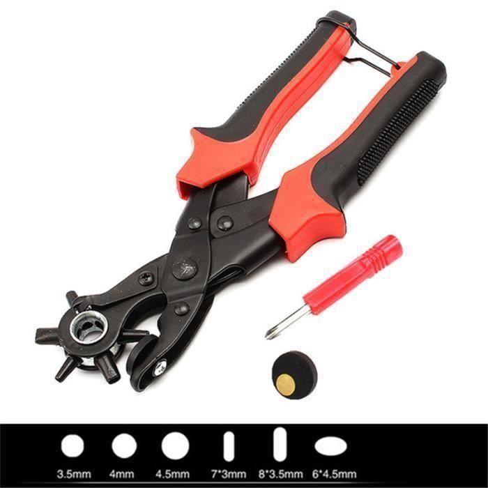Ceinture Perforateur perforatrice Ceinture Nouveau stable pince rouge