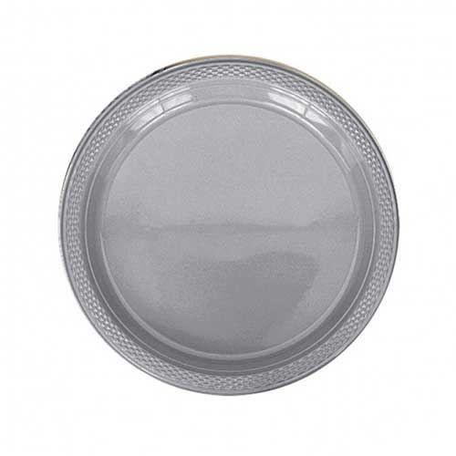 55 Profondeur Assiette blanc rond 22 cm en plastique Plastique Plaste plus stable Jetable Assiette