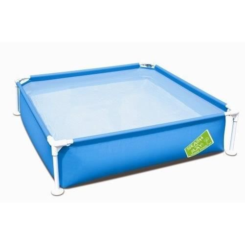 Bestway piscinette carr e my first framepool achat for Piscine carree enterree