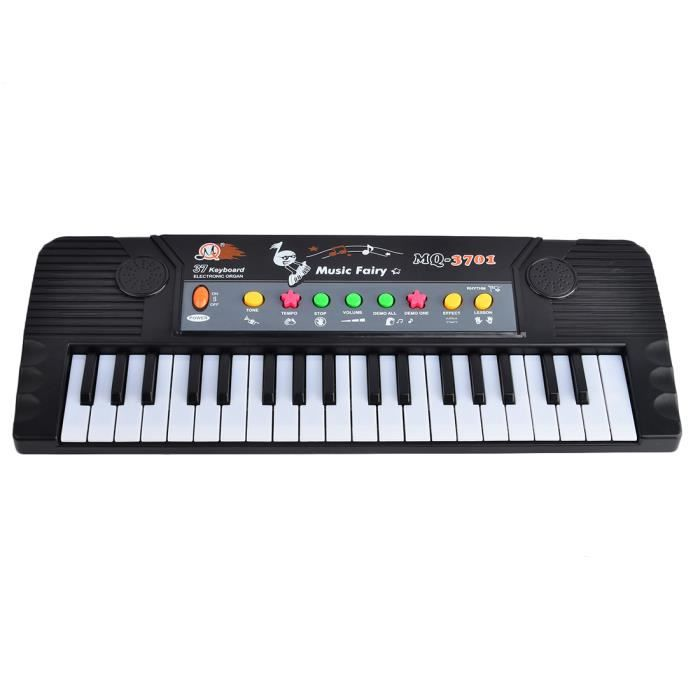 37 touches clavier lectronique piano avec microphone jouet musical pour enfants mq3701 noir. Black Bedroom Furniture Sets. Home Design Ideas