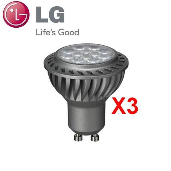 lg 3 ampoule spot led gu10 6 5w blanc chaud dimmable pour variateur achat vente ampoule. Black Bedroom Furniture Sets. Home Design Ideas
