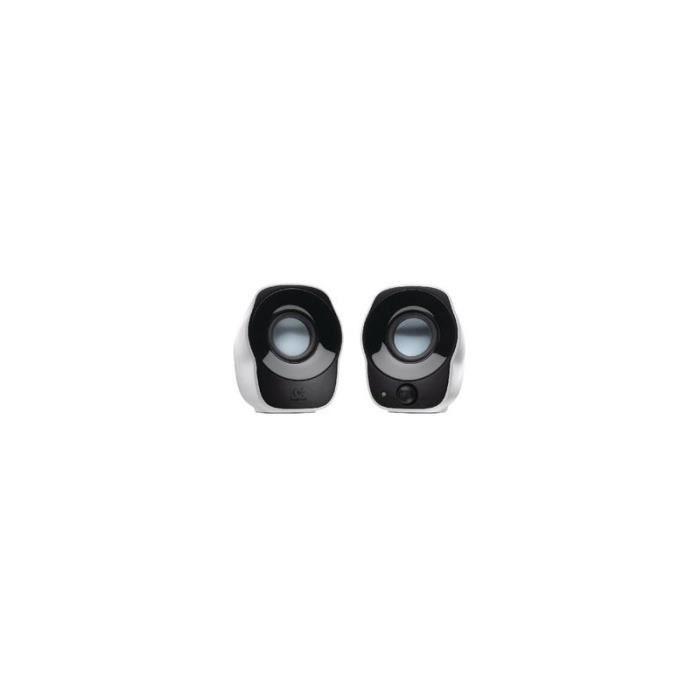 ENCEINTES ORDINATEUR LOGITECH Haut-parleur 2.0 Filaire 3.5 mm 1.2 W Noi