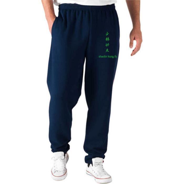 T-Shirtshock Pantalons de Survetement Courts Noir TAM0161 Shaolin