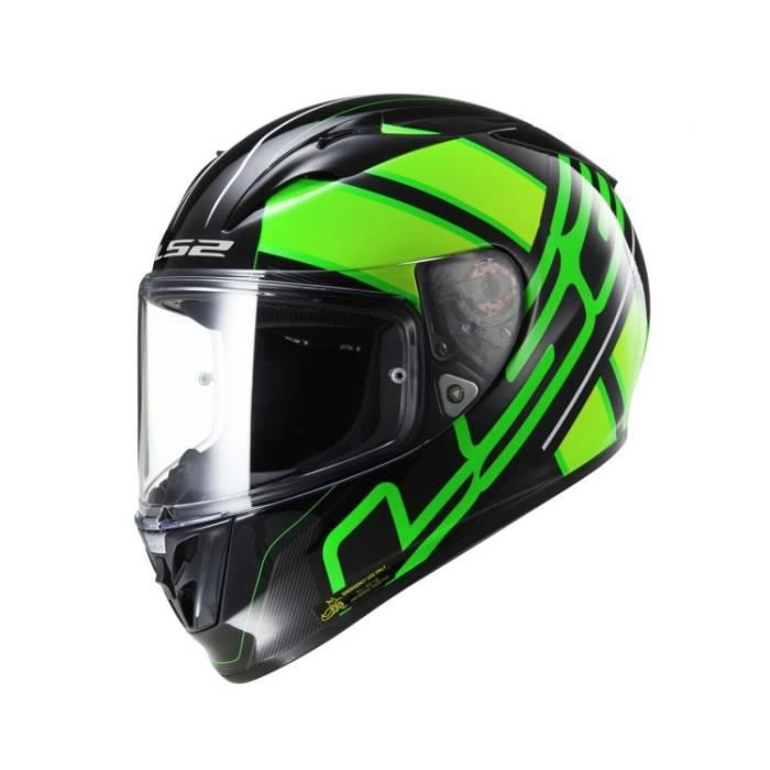 CASQUE MOTO SCOOTER CASQUE INTEGRAL LS2 FF323 Arrow R EVO ION Black Fl