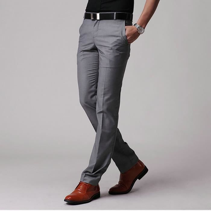 Pantalon De Costume Slim Style Homme Pantalon