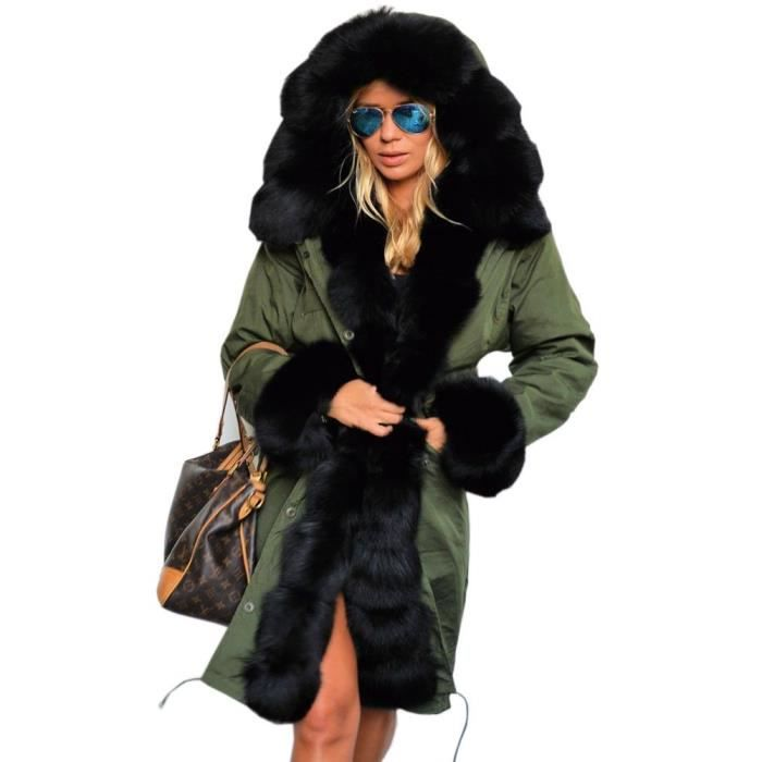 Femme Parka Casual Veste Femmes Trench Manteau D/'Hiver à Capuche Mac Taille 12 To 20