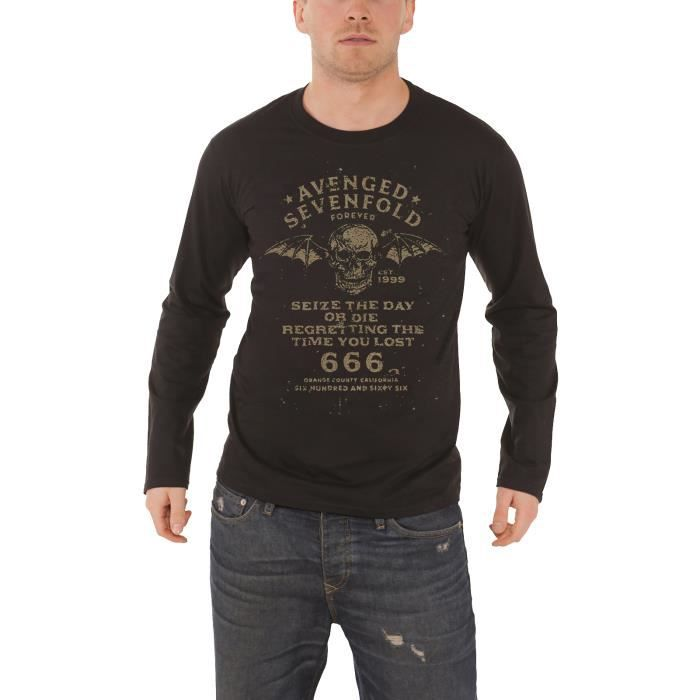 Avenged Sevenfold A7X manches longues Seize The Day Official Tee T-shirt Homme Unisexe
