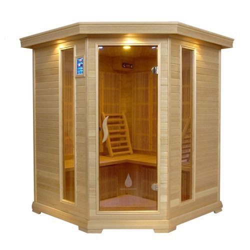 sauna infrarouge vega 4 places hemlock achat vente kit sauna sauna infrarouge vega 4 h. Black Bedroom Furniture Sets. Home Design Ideas