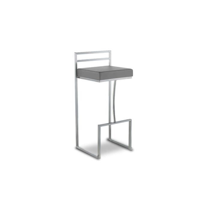 tabouret inox de bar ou cuisine design hauteur assise 76 cm detroit achat vente tabouret de. Black Bedroom Furniture Sets. Home Design Ideas
