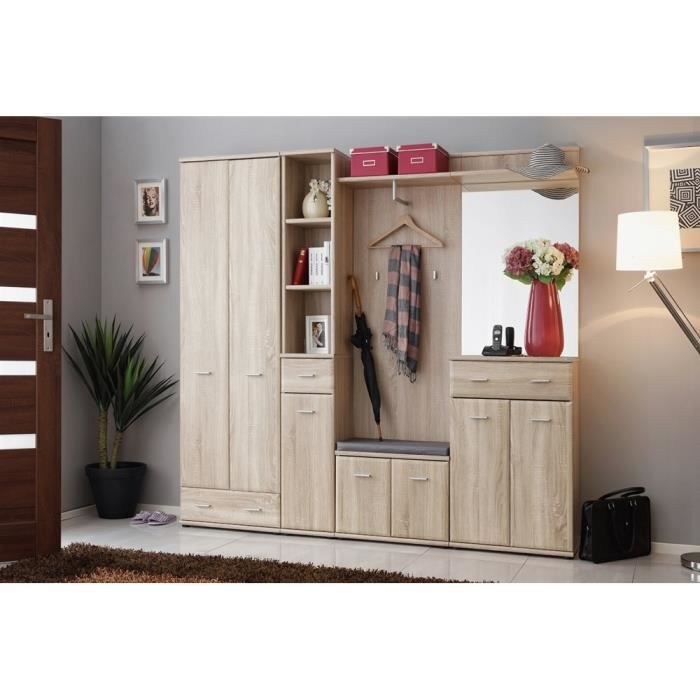 vestiaire armario 4 ch ne de sonoma achat vente meuble d 39 entr e vestiaire armario 4 ch ne. Black Bedroom Furniture Sets. Home Design Ideas