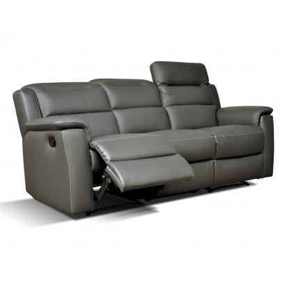 Canap 3 places relax cuir sofia anthracite achat - Dimension canape 3 places ...