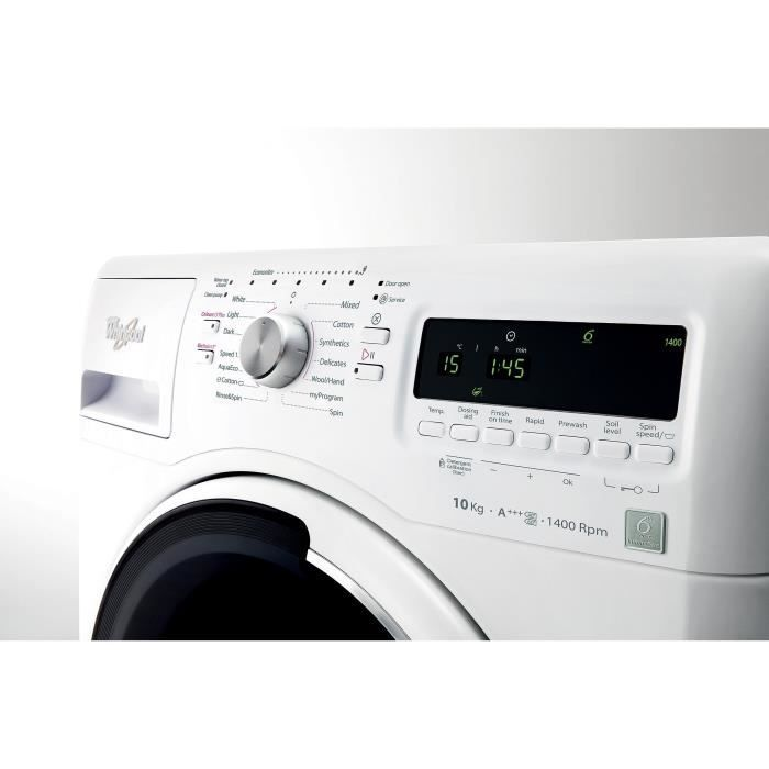whirlpool awoe41048 lave linge frontal 10 kg 1400 tours. Black Bedroom Furniture Sets. Home Design Ideas