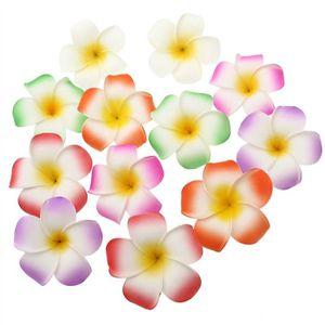 Hawaïen Luau Orchid Jasmine Rouge Tropical Hula Girl Fleur Pince à cheveux
