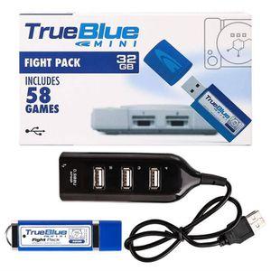 CONSOLE PS1 True Blue Mini Fight Pack 32 Go 58 Jeux Pour Plays