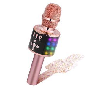 Karaok/é Enfant Microfono Karaoke Pour Enfant KTV Ext/érieur Microphone De Karaok/é Sans Fil Bluetooth Avec Microphone Audio