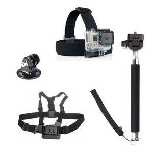 PACK ACCESSOIRES PHOTO 4 en 1 kit d'accessoires pour GoPro Hero 1/2/3/3 +