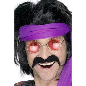 autoadh/ésive Smiffys Lot de d/éguisement hippie blond avec pattes et moustache