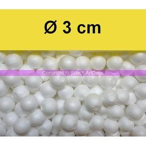 Sph/ères Creuses s/écables en Styropor Blanc Lot de 2 Grandes Boules 50 cm et 40 cm en polystyr/ène s/éparables