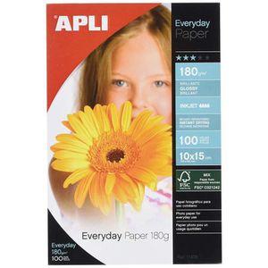 PAPIER PHOTO Apli Agipa – Pack Feuilles Papier Photo Brillant E