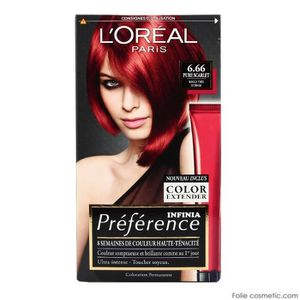 coloration loral coloration prfrence infinia 666 pure - Coloration Rouge L Oreal