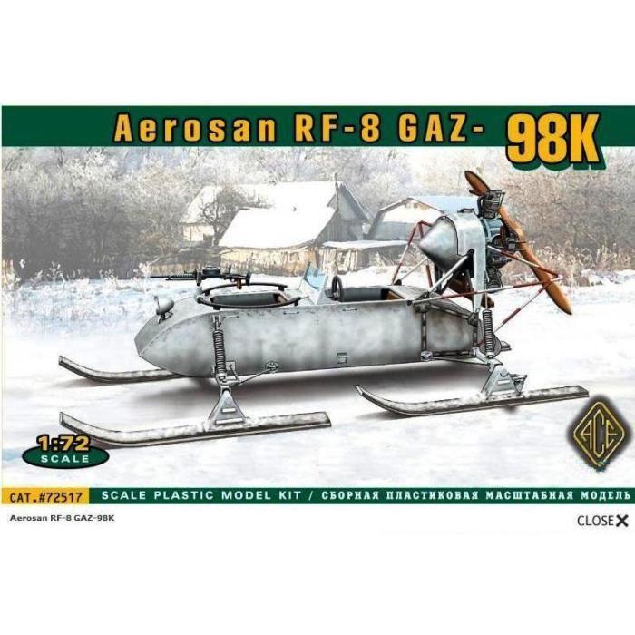 Maquette Matériel Militaire : Aerosan RF-8 Gaz 98K