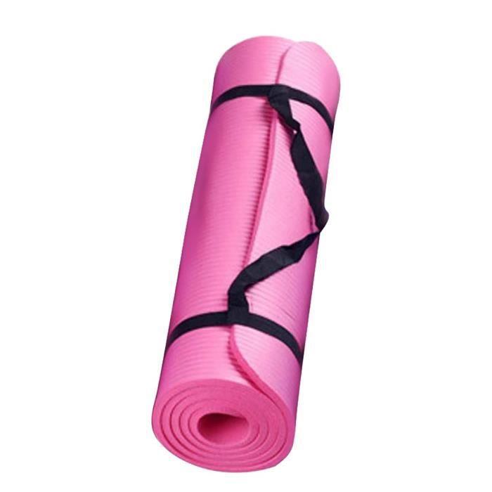 Petit tapis de yoga épais et durable de 15 mm d'épaisseur et tapis de sport antidérapant tapis antidérapant pour perdre du poids