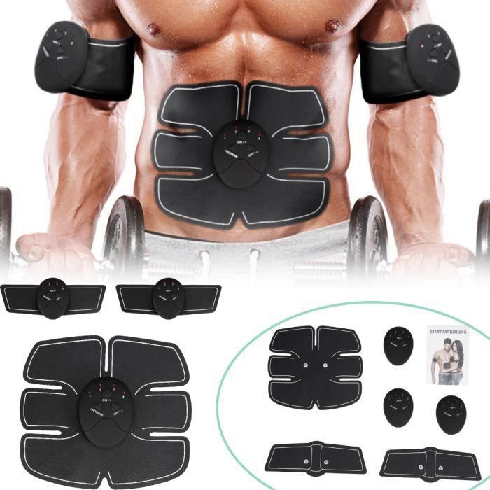 Electrostimulateur musculaire abdominal Electrostimulation Appareil Abdominal Bras ventre Jambes Entraînement Femme Homme