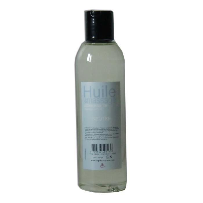 Huile de massage Pro. NEUTRE flacon de 200 ml