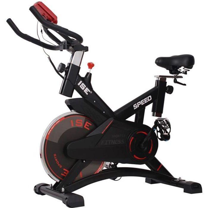 ISE Vélo Biking Vélo d'appartement ergomètre - Poids d'inertie 10 kg