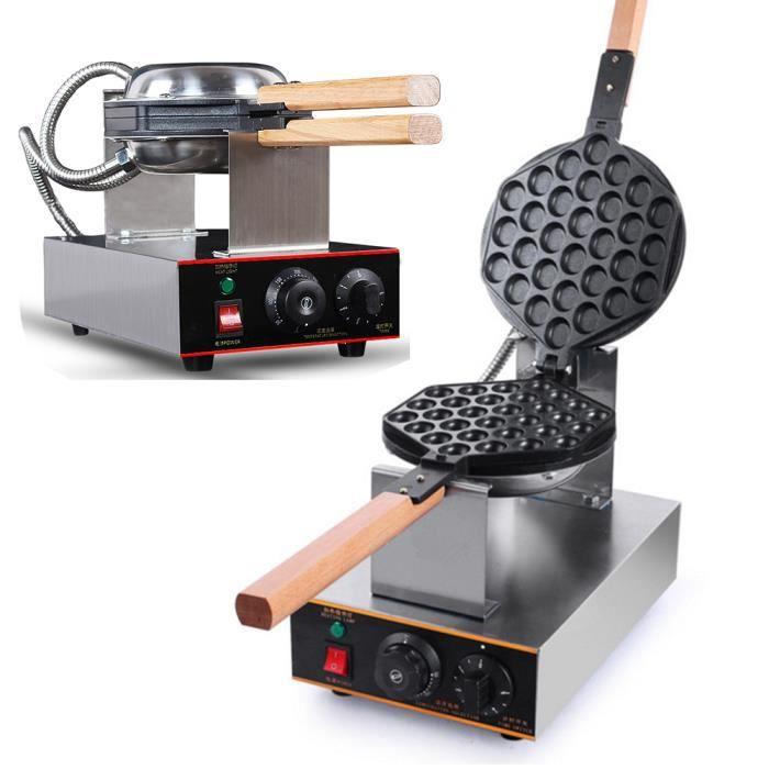 Machine à Gaufres Électrique Réglage de La Températur,Gaufrier Anti-adhésive 0-250℃Minuterie 0-3 Minutes